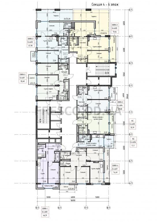 Пространство на Донского 2 Дом 4 секция 6 этаж