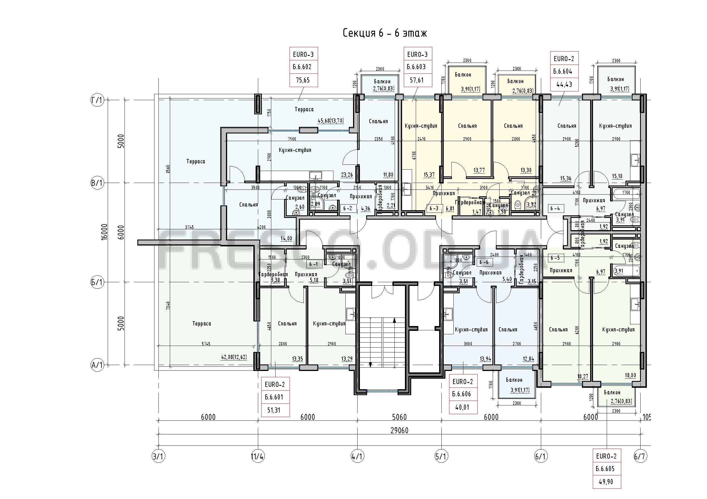 Пространство на Донского 2 Дом 6 секция 6 этаж