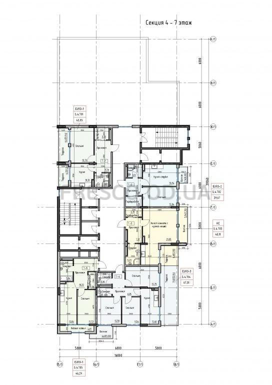 Пространство на Донского 2 Дом 4 секция 7 этаж
