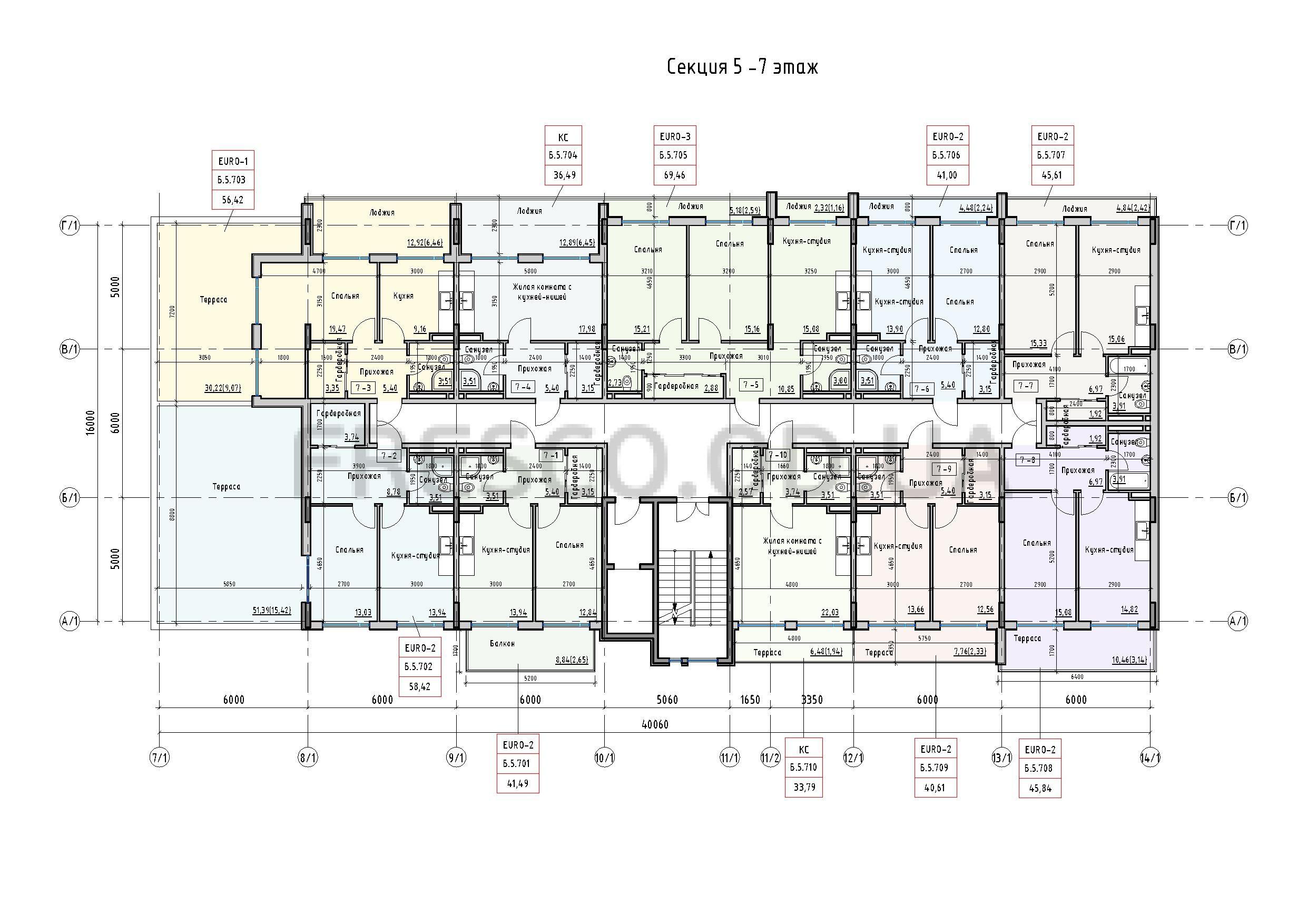 Пространство на Донского 2 Дом 5 секция 7 этаж