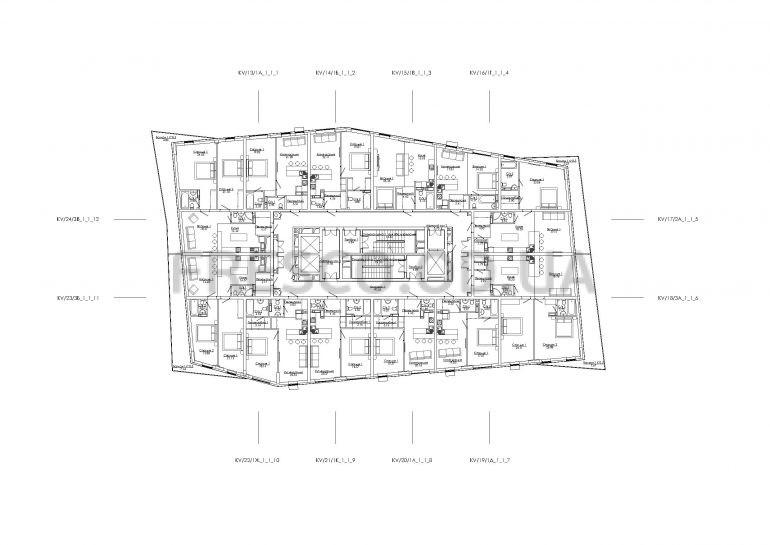 ЖК Арт Квартал (ART KVARTAL City Space) Дом 2 план типового этажа