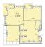 Двухкомнатная - Клубный дом Пространство на НеделинаПроданаПлощадь:110,71m²