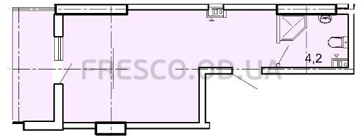 Однокомнатная - ЖК Акрополь$27260Площадь:29m²