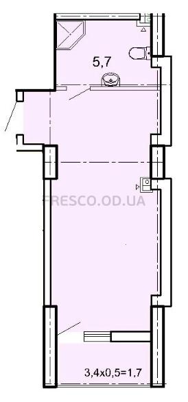 Однокомнатная - ЖК Акрополь$29516Площадь:31,4m²