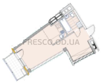 Однокомнатная - ЖК La Mer (Ла Мер)$51615Площадь:34,41m²