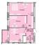 Двухкомнатная - ЖК Акварель-4 на Черемушках$43928Площадь:61,87m²