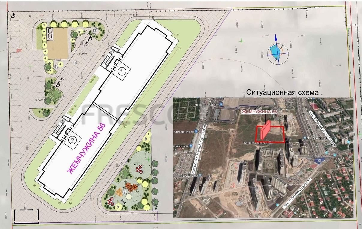 ЖК 56 Жемчужина план озеленения