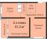 Двухкомнатная - ЖК Омега$58615Площадь:61,7m²