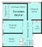 Трехкомнатная - ЖК Омега$82365Площадь:86,7m²