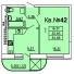 Однокомнатная - ЖК Теплый дом$24000Площадь:34,05m²