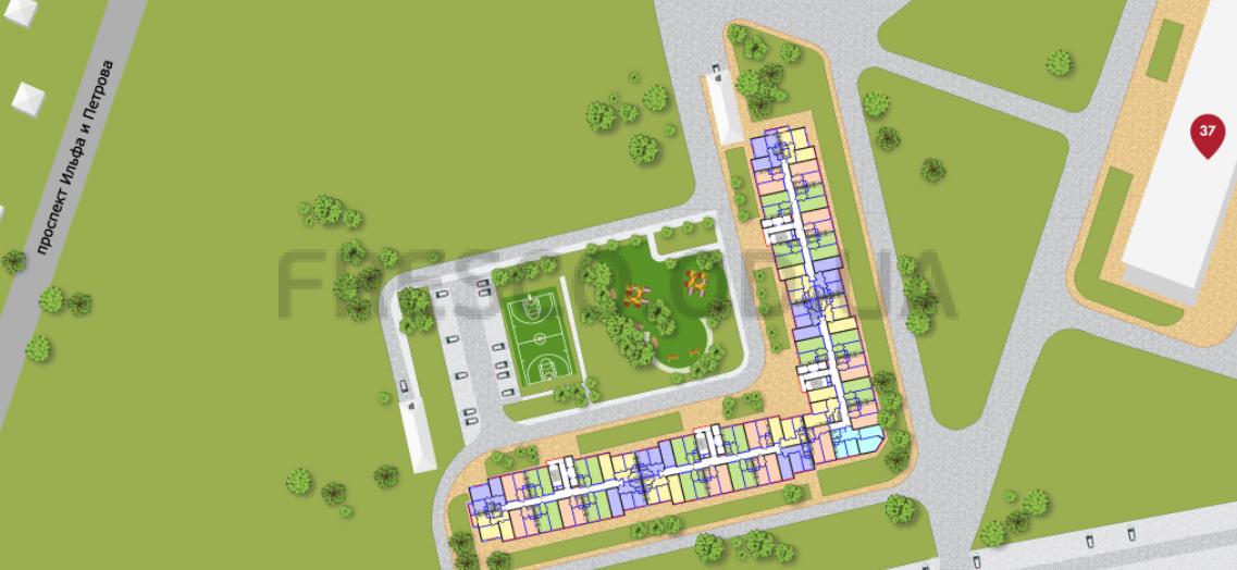 ЖК 53 Жемчужина план озеленения