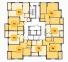 ЖК Золотая Эра 13 секция план типового этажа