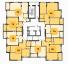 ЖК Золотая Эра 14 секция план типового этажа