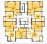 ЖК Золотая Эра 15 секция план типового этажа