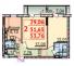 Двухкомнатная - ЖК Парковый-2$29382Площадь:53,76m²